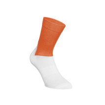 POC Essential Road Socks Zink Orange/Hydrogen White