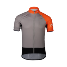 POC Essential Road Kerékpáros Mez Granite Gray/Zink Orange