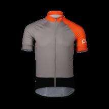 POC Essential Road Kerékpáros Mez Granite Gray/Zink Orange