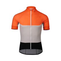 POC Essential Road Light Kerékpáros Mez Granite Grey/Zink Orange