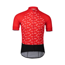 POC Essential Road Logo Kerékpáros Mez Polka Prismane Red