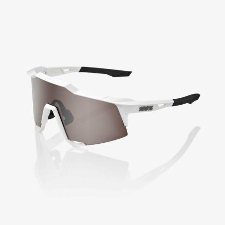 100% SPEEDCRAFT SPORTSZEMÜVEG Matte White/HiPER Silver Multilayer Mirror Lens