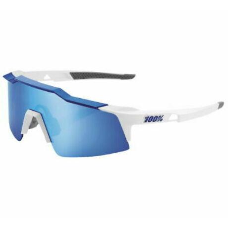 100% SPEEDCRAFT SL SPORTSZEMÜVEG Matte White, Metallic Blue/HiPER Blue Multilayer Mirror Lens