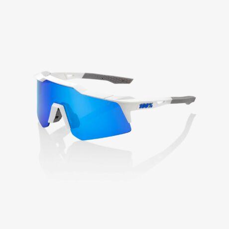 100% SPEEDCRAFT XS SPORTSZEMÜVEG Matte White/ BLUE Multilayer Mirror lencse