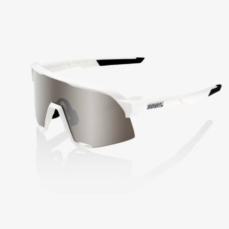 100% S3 SPORTSZEMÜVEG Matt White/HYPER Silver Mirror Lens