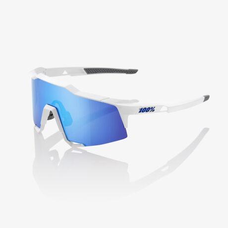 100% SPEEDCRAFT SPORTSZEMÜVEG Matte White/HiPER Blue Multilayer Mirror Lens