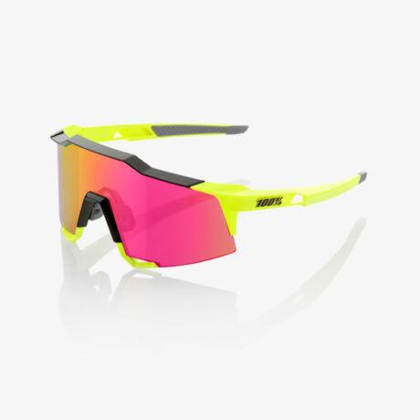 100% SPEEDCRAFT SPORTSZEMÜVEG Polished Black/Fluorescent Yellow