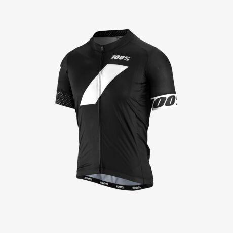100% Strike Zip Kerékpáros Mez Black