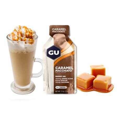 GU energy gel caramel macchiato
