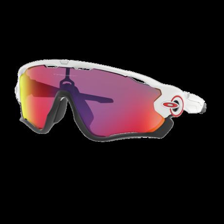OAKLEY Jawbreaker Sportszemüveg - Polished White Prizm Road Lens