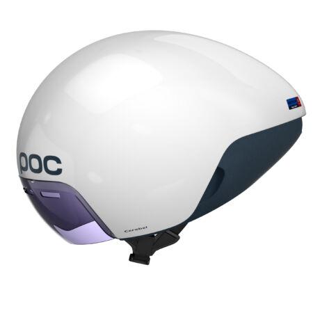 POC CEREBEL Raceday Aero időfutam bukósisak Hydrogen White