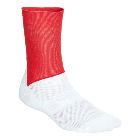 POC Essential Road Socks Prismane Red/Hydrogen White