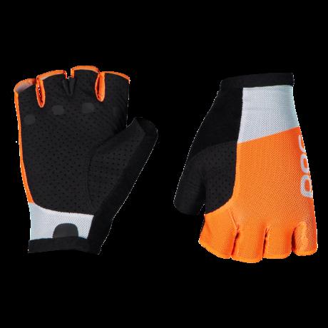 POC Essential Road Mesh Rövid Ujjú Kesztyű Granite Gray/Zink Orange