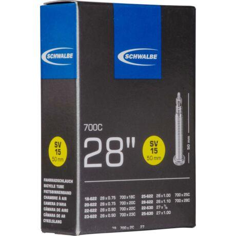 Schwalbe országúti belső 622 SVL15 18/28-622/630 - 50 mm presta szelep