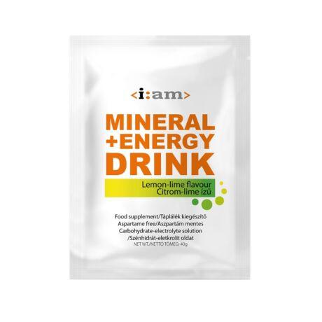 I:AM MINERAL + ENERGY DRINK citrom-lime ízű italpor 40g/egy adag