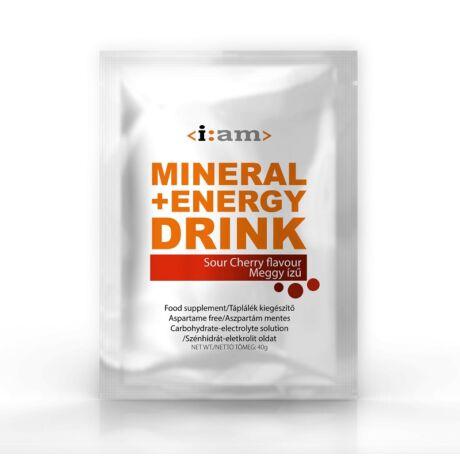I:AM MINERAL + ENERGY DRINK meggy ízű italpor 40g/egy adag