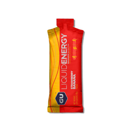 GU liquid energy gel eper-banán / strawberry banana
